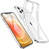 ESR Clear Silicone Case for iPhone 12 Pro Max, Slim Clear Soft TPU, Flexible Silicone Cover for iPhone 12 Pro Max 6.7…