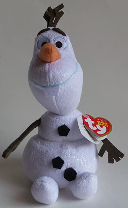 Image Unavailable. Image not available for. Color  Ty Disney Frozen Beanie  Babies Olaf ... daa24c08151e