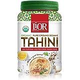 LiOR Certified Organic Tahini | 100% Pure Stone Ground Sesame | Best for Hummus, Dressings, Sauce | Single-Sourced Ethiopian