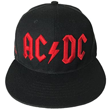 8b9be5dc9 AC/DC Red 3D Embroidered Logo Snapback Hat Standard at Amazon Men's ...