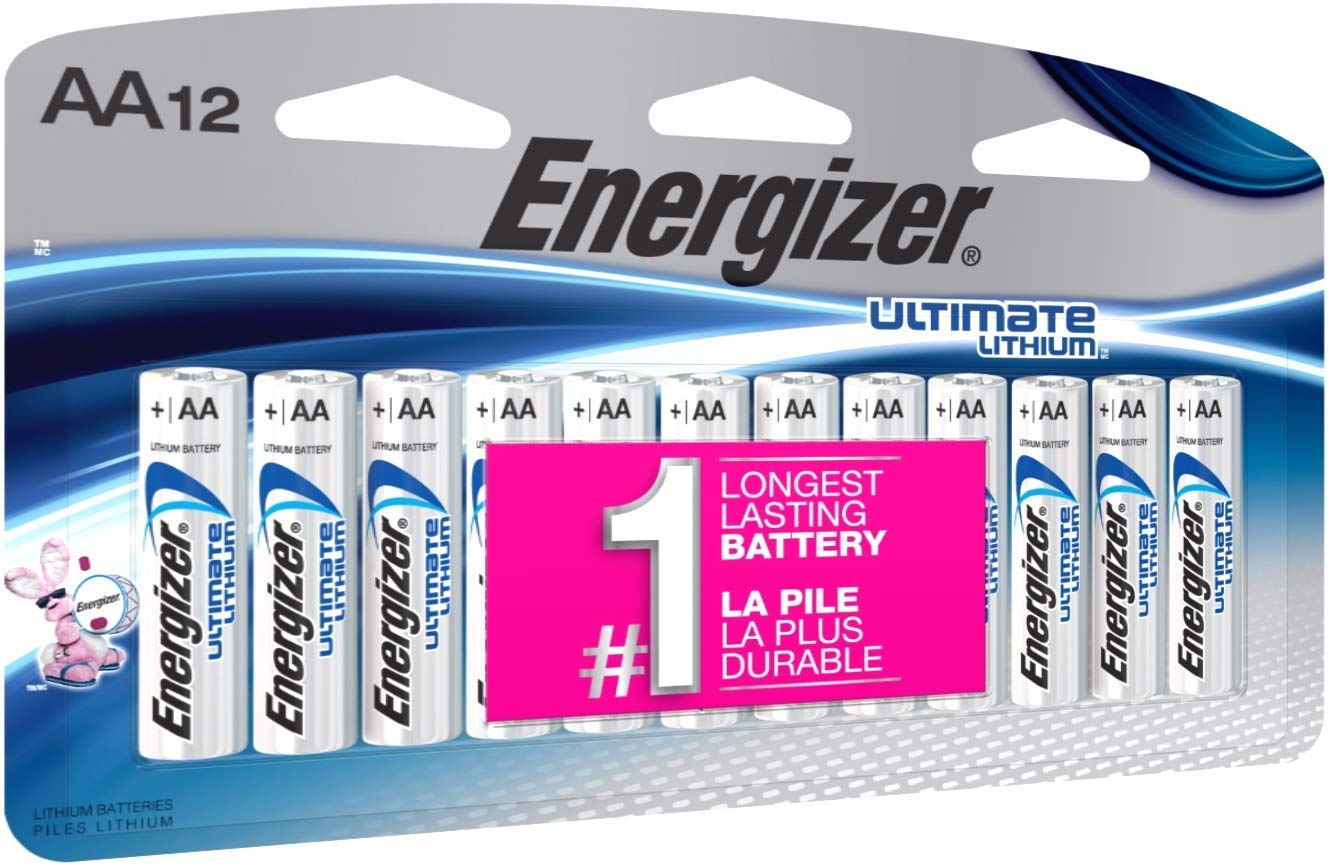 Premium Pack AA Lithium Batteries, World's Longest Lasting Double A Battery, Ultimate Lithium (12 Count)