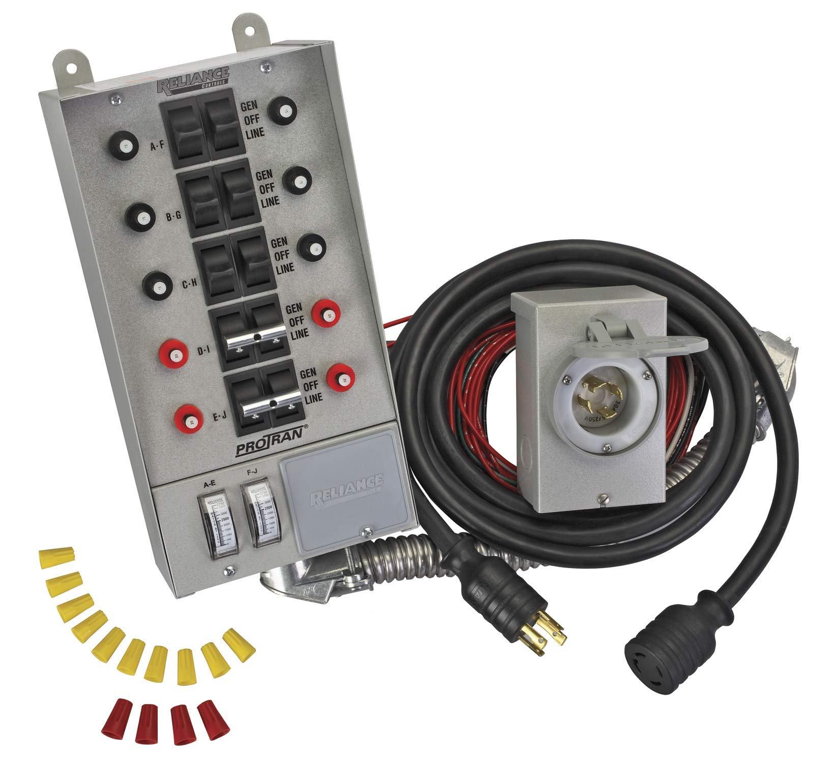 Reliance Controls Corporation 31410CRK 30 Amp 10-Circuit Pro/Tran Transfer Switch Kit for Generators Up to 7,500 Running Watts (Renewed) by Reliance Products