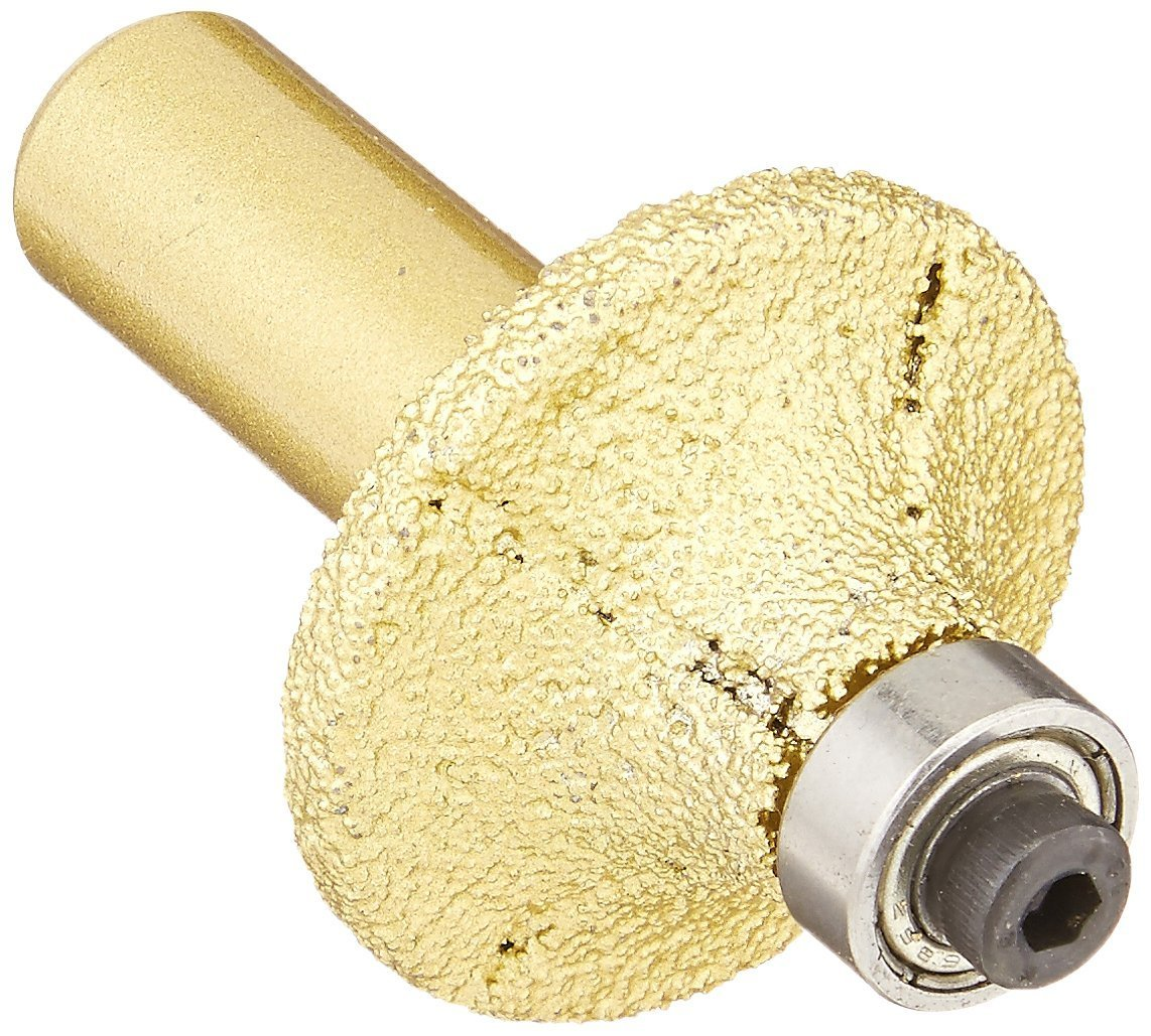 8 Pieces Pack: 3/16 Inch 3/8 Inch 1/2 Inch 3/4 Inch Diamond Brazed Router Bit 1/2-Inch Shank marble granite glass stone tile cutting edge grinding half roundover bullnose work with drill chuck Asia Pacific Construction 3X5tuckpoint
