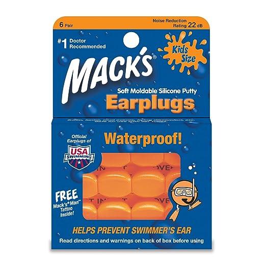15 opinioni per Macks Kids Pillowsoft Tappi per le orecchie, 6pezzi–arancione