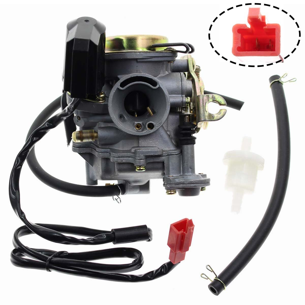 Carbhub GY6 50cc Carburetor for GY6 49cc 50cc Four Stroke Chinese Scooter Moped Taotao Kymco