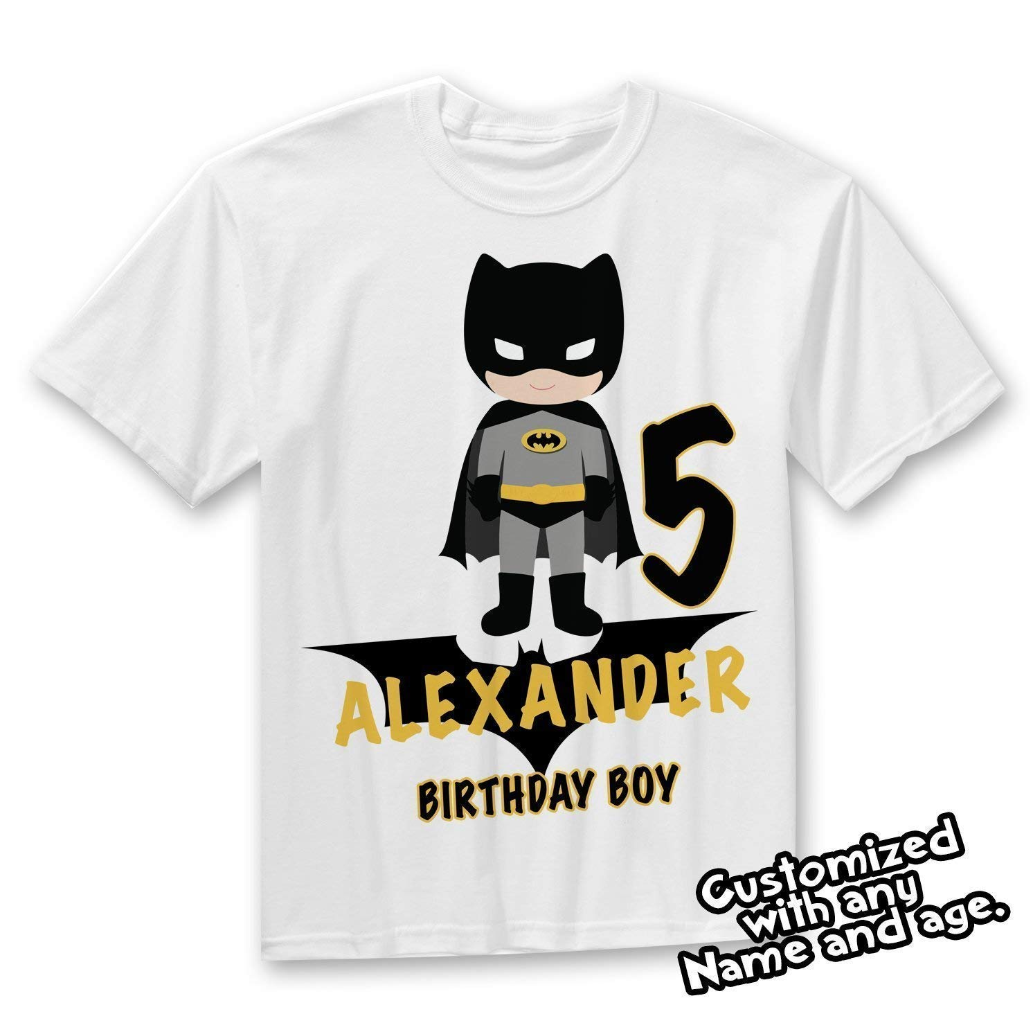Amazon Batman Birthday Shirt Party Custom Handmade