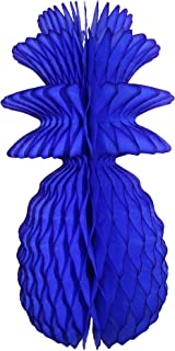 product image for 3-Pack Solid Colored 13 Inch Honeycomb Pineapple Party Decoration (Dark Blue)