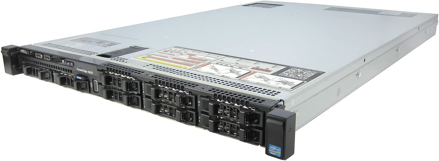 Dell PowerEdge R620 Server 2.80Ghz 20-Core 288GB 3X 512GB SSD 5X 1TB Rails (Renewed)
