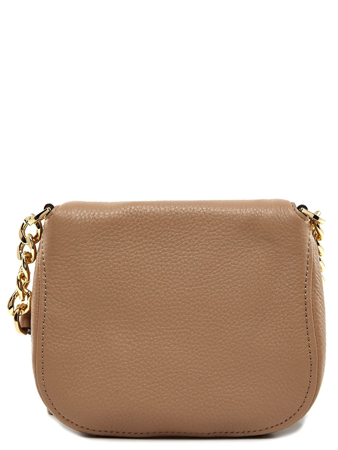 cfce121f02e5 Michael Kors Bedford Flap Beige Leather Crossbody Bag Beige Leather: Amazon. co.uk: Shoes & Bags