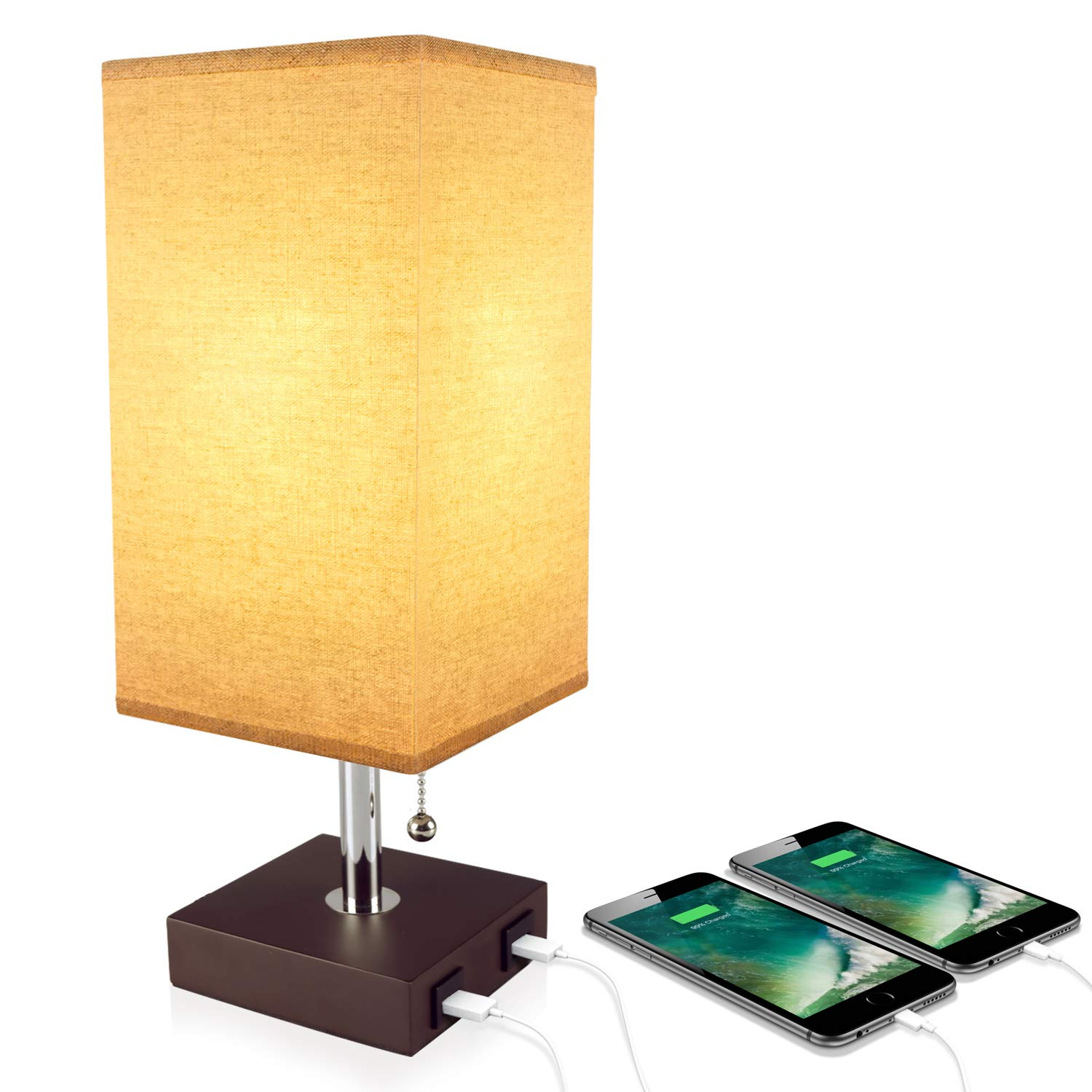 Usb Table Desk Lamp Acaxin Bedside Lamp With Dual Usb