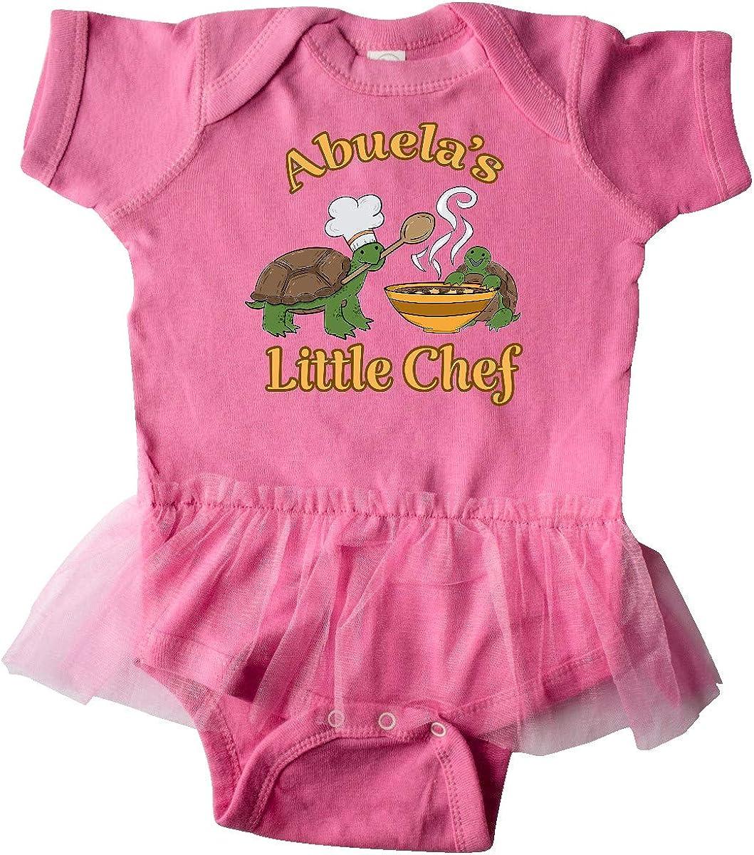 inktastic Abuelas Little Chef with Cute Turtles Infant Tutu Bodysuit