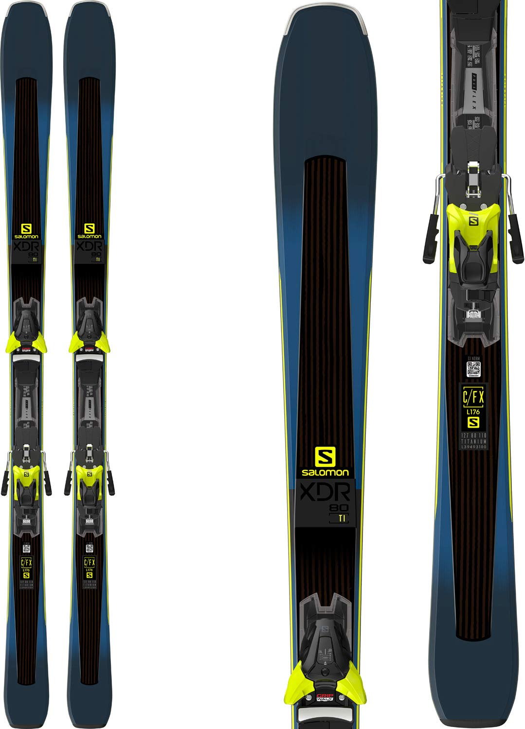 Salomon 2019 XDR 80 Ti Skis w/ Z12 Bindings (162cm) by Salomon
