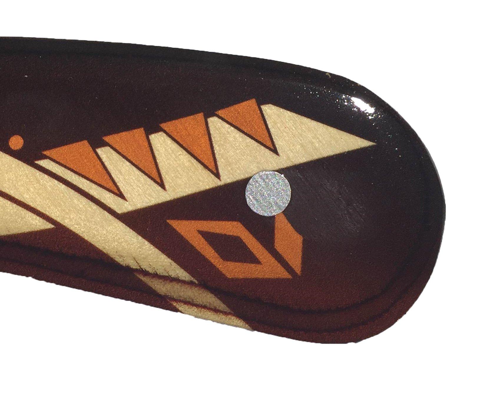 RangeMaster Decorated Australian Wooden Boomerang - Aboriginal Art Style by Colorado Boomerangs (Image #5)