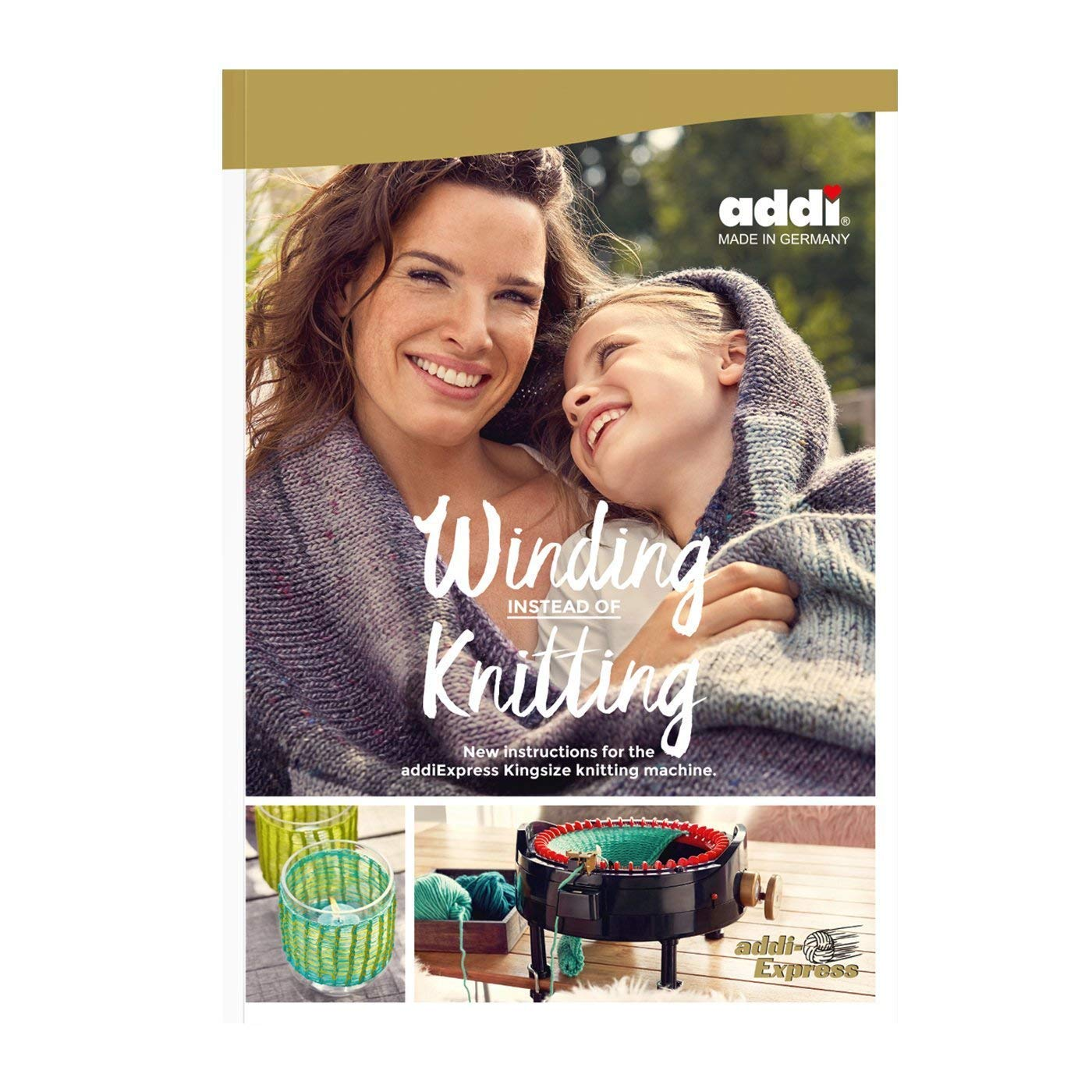 addi Express King Size Knitting Machine Extended Edition with Manual Counter Includes: 46 Needles, Knitting Machine, Pattern Book, Express Hook, Replacement Needles, Stopper and 2 Skeins Wool Yarn by addi (Image #3)