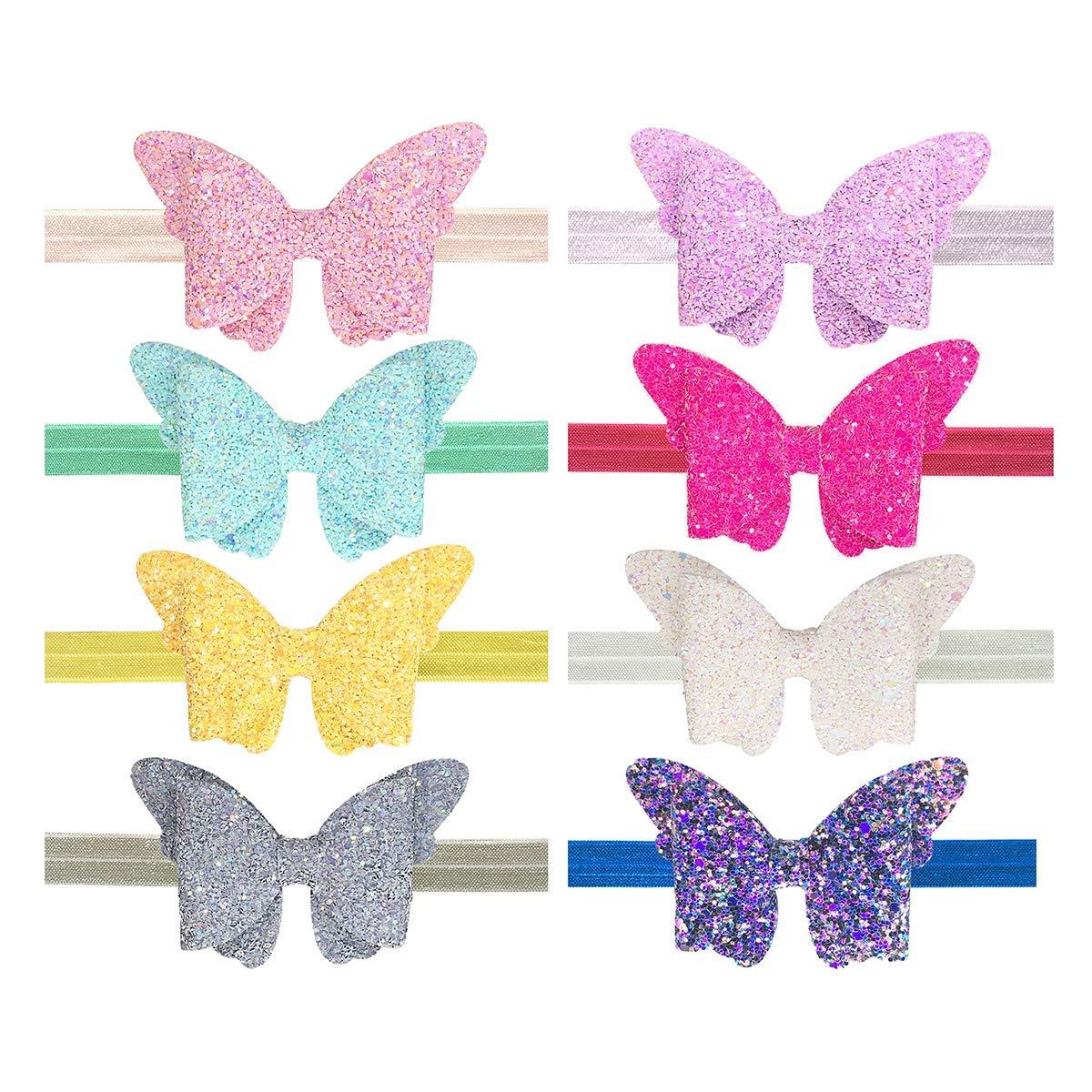 Girls Butterfly Glitter Motif Ponio Bobble Elastics Toddler Accessories Gift