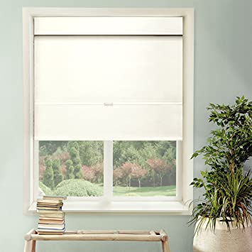 Chicology Cordless Magnetic Roman Shades / Window Blind Fabric Curtain  Drape, Thermal, Light Filtering
