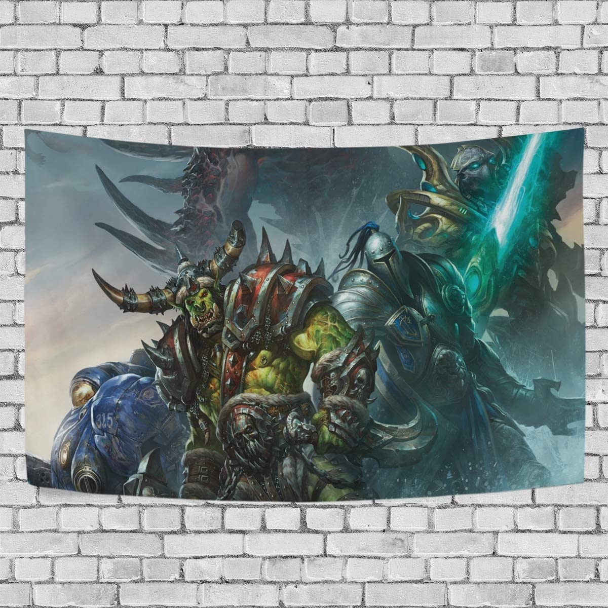 World of Warcraft Horde Tapestry Wall Hanging Decoration for Bedroom Living Room Dorm Fashion-for Party Apartment Home Art Wall Tapestry 90 x 60 in