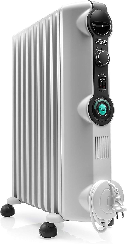 De'longhi RADIA S Radiador con Comfort-Temp, 9 Elementos, Blanco y Negro