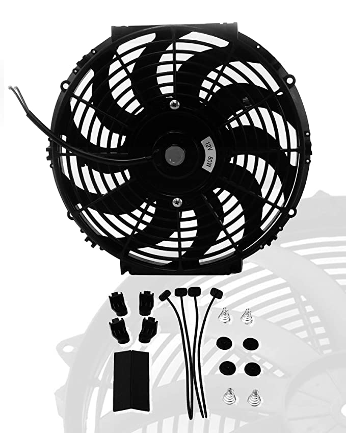 16 Inch Slim Fan Push Pull Electric Radiator Cooling Fans 12v Mount