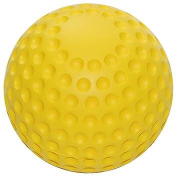 Pelotas de espuma de poliuretano suave en pelota-diseño amarillo ...