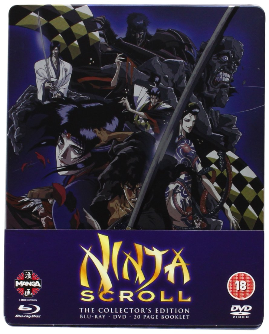 Amazon.com: Ninja Scroll Blu-ray/DVD Steelbook: KÄ´ichi ...