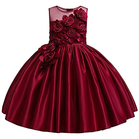 60603698d7172 Amazon.com: Kids Dresses for Girls Dress Summer Elegant Children ...
