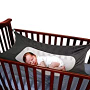 BabyKim Newborn Baby Hammock for Crib Wombs Bassinet Hammocks Bed with Comfortable Breathable Net and Metal Button Nursery Travel Baby Hammocks, Grey Hammocks Fit All Sizes Cribs 1 Pack