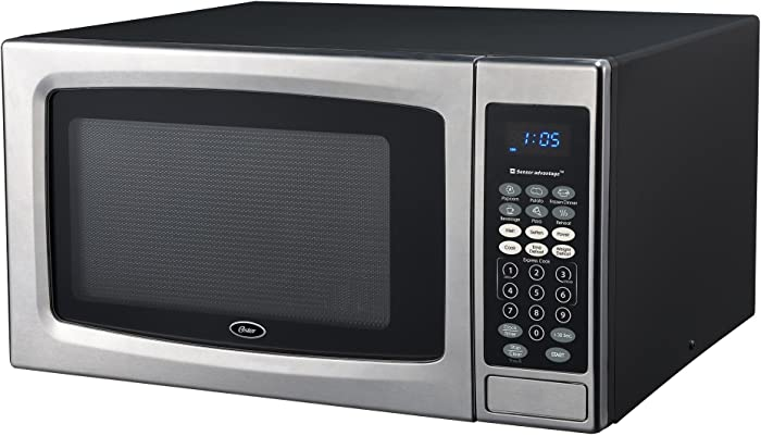 Oster OGZE1304S Microwave Oven, 1.3 cu. ft, Stainless Steel/Black