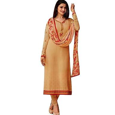 Partywear Italian Crepe Embroidered Salwar Kameez Womens Indian