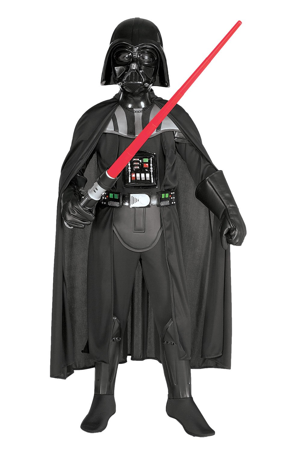 Costumes USA Star Wars Darth Vader Costume Supreme for Boys Includes a Jumpsuit a Mask and More a Cape