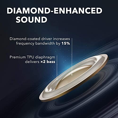 Anker Soundcore Liberty Air 2 Wireless Earbuds, Diamond Coated Drivers, Bluetooth Earphones, 4 Mics, Noise Reduction, 28H Playtime