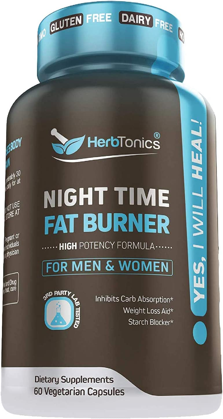 Weight Loss Pills Fat Burner for Night Time + Sleep Aid for Women and Men Appetite Suppressant Supplement and Metabolism Boost with Melatonin Non-GMO