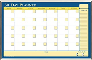 product image for House of Doolittle 30 Day Laminated Aluminum Frame Non-Dated Planner 32 x 21.5 Inch with Write on/Wipe off Feature, Recycled (HOD6651)