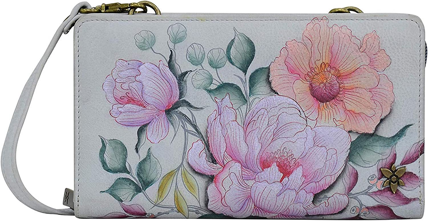 Anna Artwork Anuschka Leather Organizer Wallet with Coin Pouch