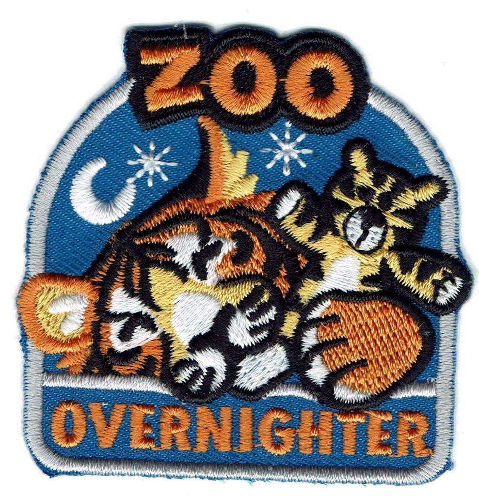 2Pcs Girl Boy Cub Zoo OVERNIGHTER Overnight Trip Patch Crest Badge Scout Tiger Sleep by De_saga