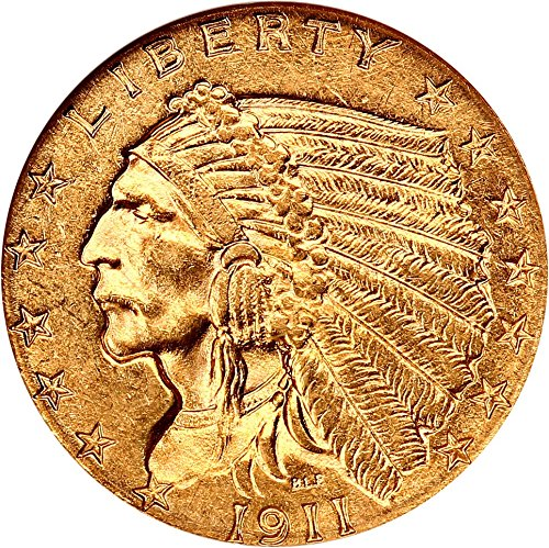 1911 P $2.50 Indian Gold Two and a half Dollar MS62 NGC