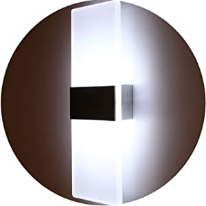 Topmo Modern Acrylic 12w LED Wall Sconces Aluminum Lights Decorative Lamps Night Light for Pathway, Staircase, Bedroom, Balcony,Drive Way,Cold White 840LM(6000K)29114.8CM