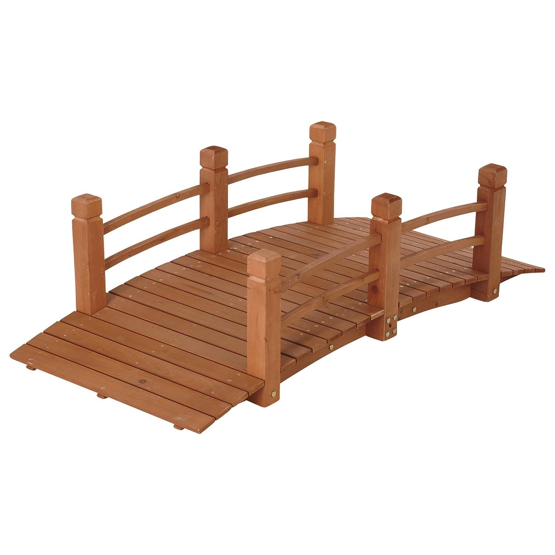 Captivating Amazon.com : Wooden Garden Bridge, Model# KMG100858 WP : Garden U0026 Outdoor
