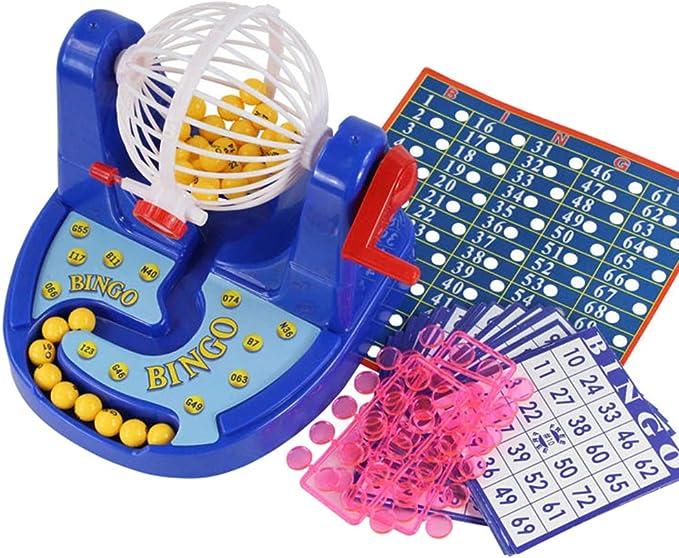 Catkoo Juego De Máquina De Juego De Bingo Lucky Balls De Lotería Juguete Educativo De Escritorio para Niños, Entrenamiento Perfecto Regalos De Inteligencia para Niños: Amazon.es: Hogar