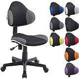 CLP Chaise de bureau moderne BASTIAN, design moderne & forme ergonomique, réglable en hauteur 39 - 51 cm, capacité de charge max. 100 kg noir/gris