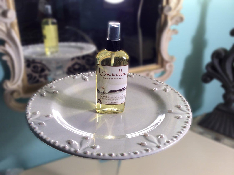 Vanilla Organic Body Spray Splash - 3 Types of Body Sprays - Body Mist, Shimmering Body Spray - Spray Mist - Perfumed Spray - 4.7 oz Spray