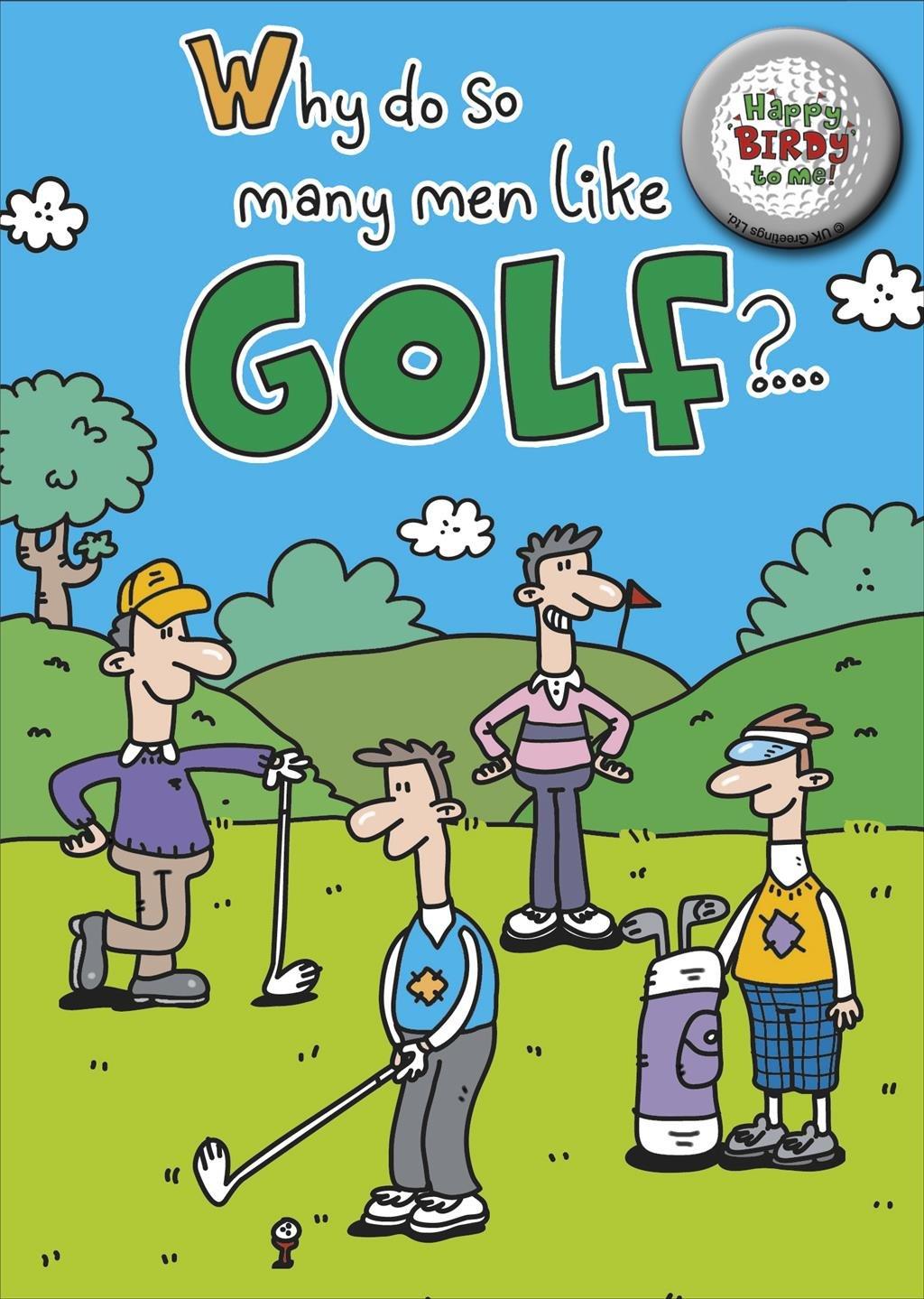 Golf Birthday Cards Amazoncouk Kitchen Home – Golfing Birthday Cards