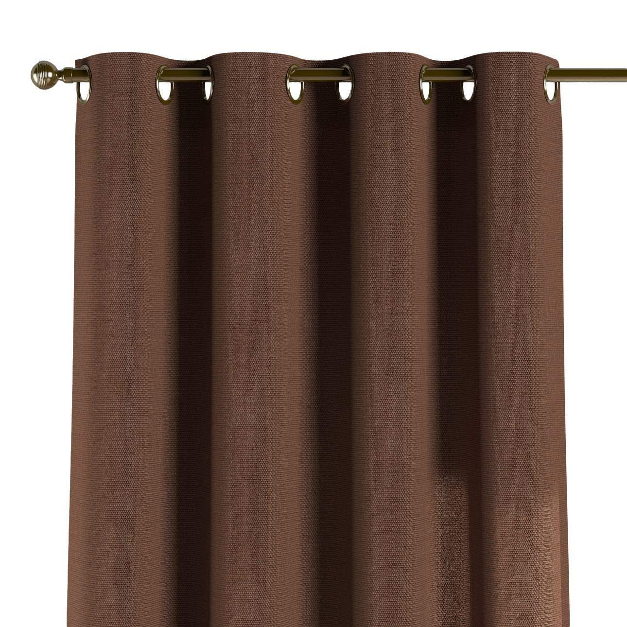 Dekoria Ösenschal Dekoschal Blickdicht 1 Stck. 130 × 260 cm braun Maßanfertigung möglich