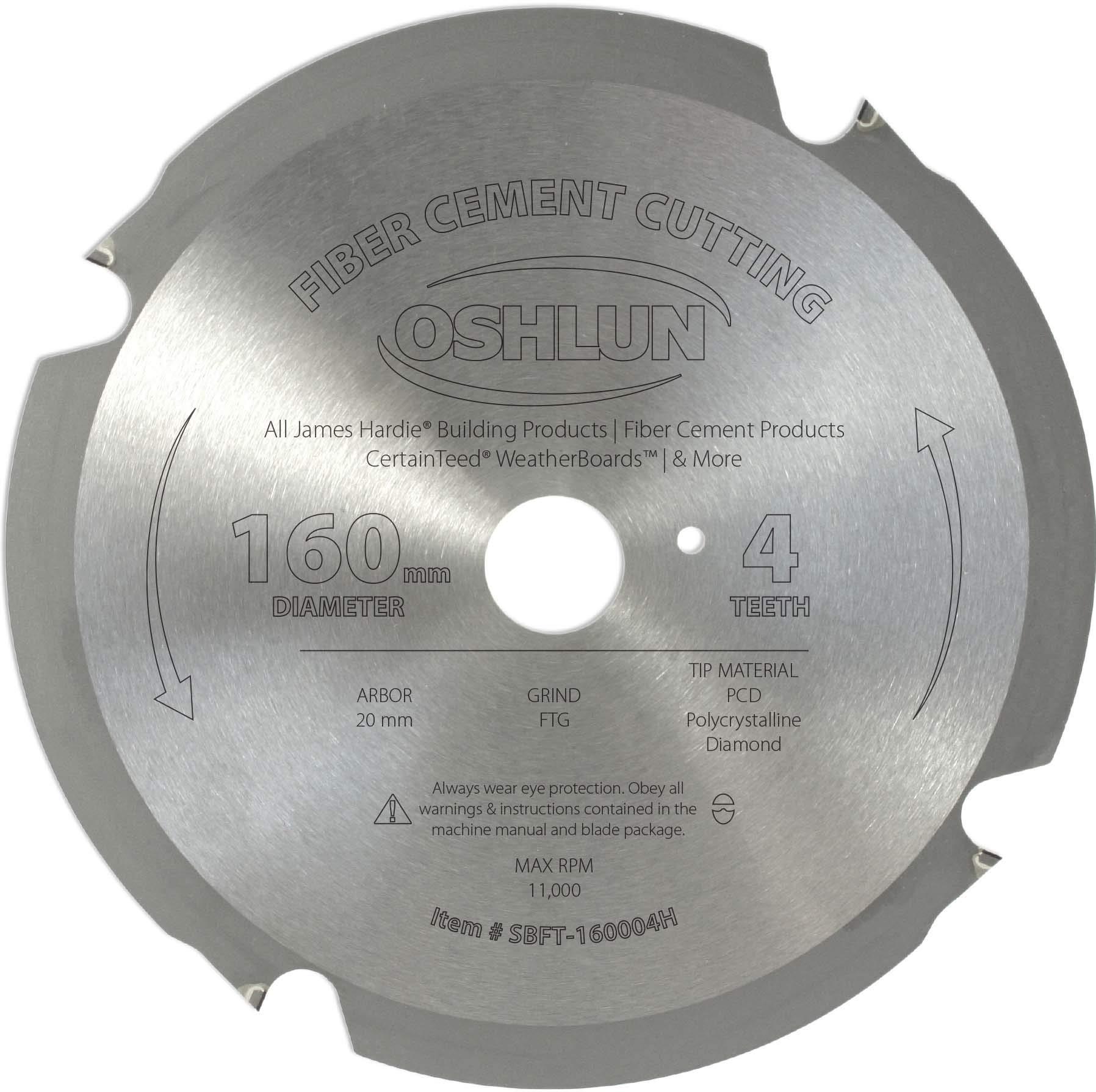 Disco Sierra OSHLUN SBFT 160004H 160 mm 4T FesPro Fiber Ce