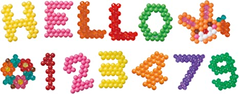 Aquabeads ABC /& 123 Vorlage Motiv für Bastelperlen für Perlen Basteln Spielzeug