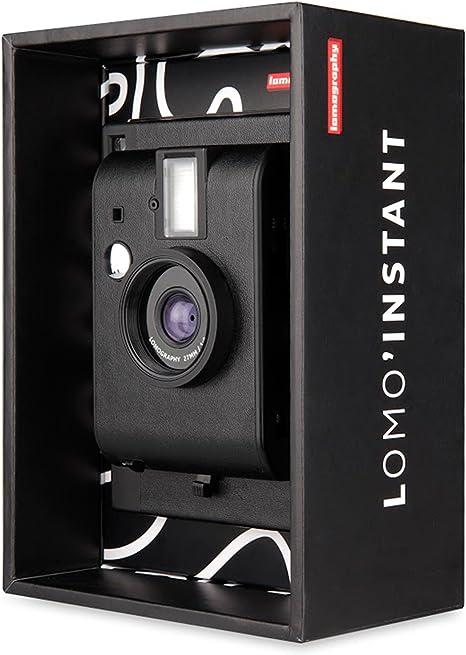 Lomography LomoInstant Negro + 3 Lentes- Cámara instantánea ...