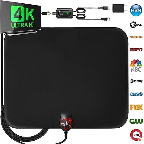 ZUZU Antena de TV Digital de Alta definición de Largo Alcance de ...