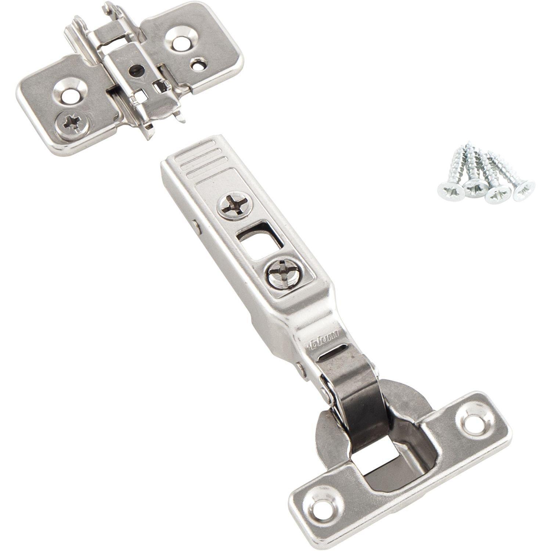 BLUM Clip top Mini-Scharnier | Möbelband; Eckanschlag, 2 Stück inkl ...
