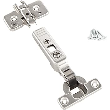 BLUM Clip top Mini-Scharnier | Möbelband; Eckanschlag, 2 Stück inkl. Montageplatten, Schrauben und Montageanleitung