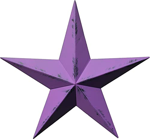 AMISH WARES 24 Inch Heavy Duty Metal Barn Star Painted Rustic Purple Orchid.
